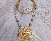 Gilded Flower Necklace