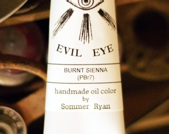 Oil Paint- Burnt Sienna - Evil Eye Color- (PBr 7) natural earth pigment