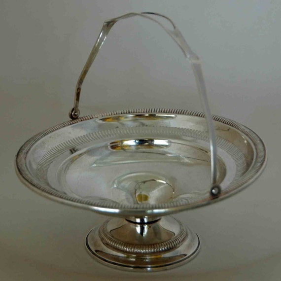 Reduced Vintage STERLING SILVER KENILWORTH Weighted Footed Basket Candy Dish #91 Ca 1930s