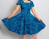 Reserved for Nico 1950s Dress / Tiki Dress / 50s Dress / Circle Skirt / 1950s Party Dress / Pinup Dress / Viva Las Vegas / Hawaiian Dress