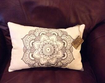 Tribal Lotus Flower Pillow