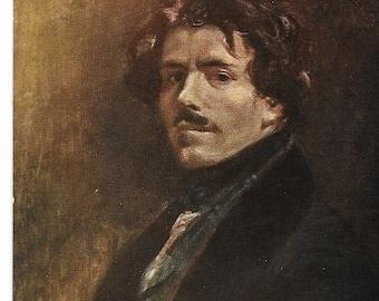 Vintage Unused French Postcard Eugene DeLeCroix Portrait 214