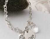Sterling Silver Pet Memorial Bracelet Remembrance Bereavement Jewelry -  Personalized Keepsake Loss of a beloved pet