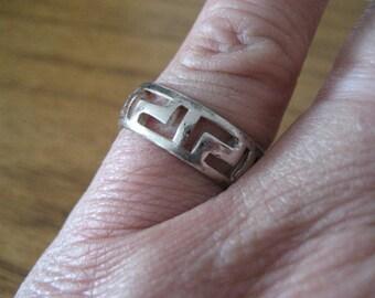 Vintage sterling silver ring.  Celtic inspired.