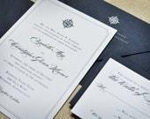 Wedding Invitation - Nautical - Navy - Seaside - Compass