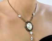 Victorian Gothic Necklace Swarovski Crystal Necklace Victorian Gothic Wedding Jewelry Gift for Her