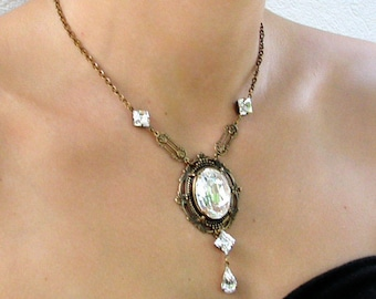 Victorian Gothic Necklace Swarovski Crystal Necklace Victorian Gothic Wedding Jewelry Gift for Her