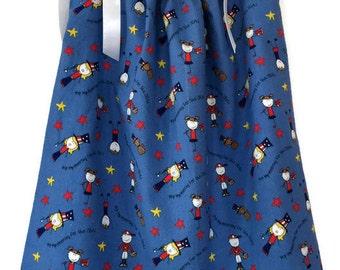 Patriotic Pillowcase Dress - 4th of July Dress - Girls USA Jumper - Summer Sun Dress - Red White Blue Dress - Baby Girls Dress - Custom
