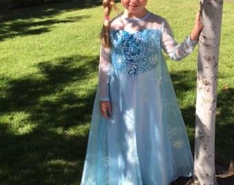 ELSA Disney's Frozen Handmade Costume Size 6