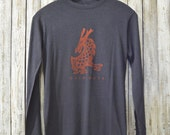 Dare More Bamboo Organic Long Sleeved T-shirt in Charcoal Blue for Men