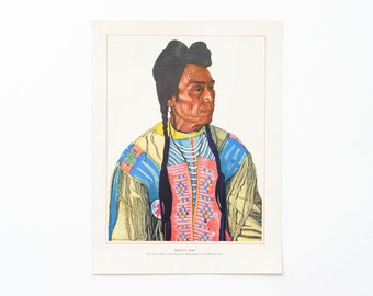 Vintage Native American Litho Print by Winold Reiss - Morning Bird