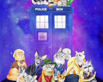 Doctor Mew: Doctor Who Cats with the TARDIS