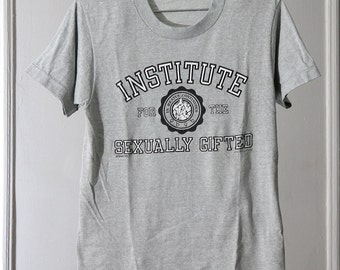 "Thin Grey 80s ""Institute For The Sexually Gifted"" T-Shirt"