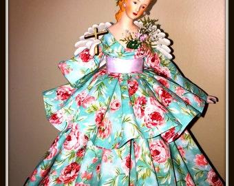 Victorian Inspired Angel, Home Decor, Gift Angel, OOAK Porcelain, Cottage Chic Gift Angel, Angel Tree Topper
