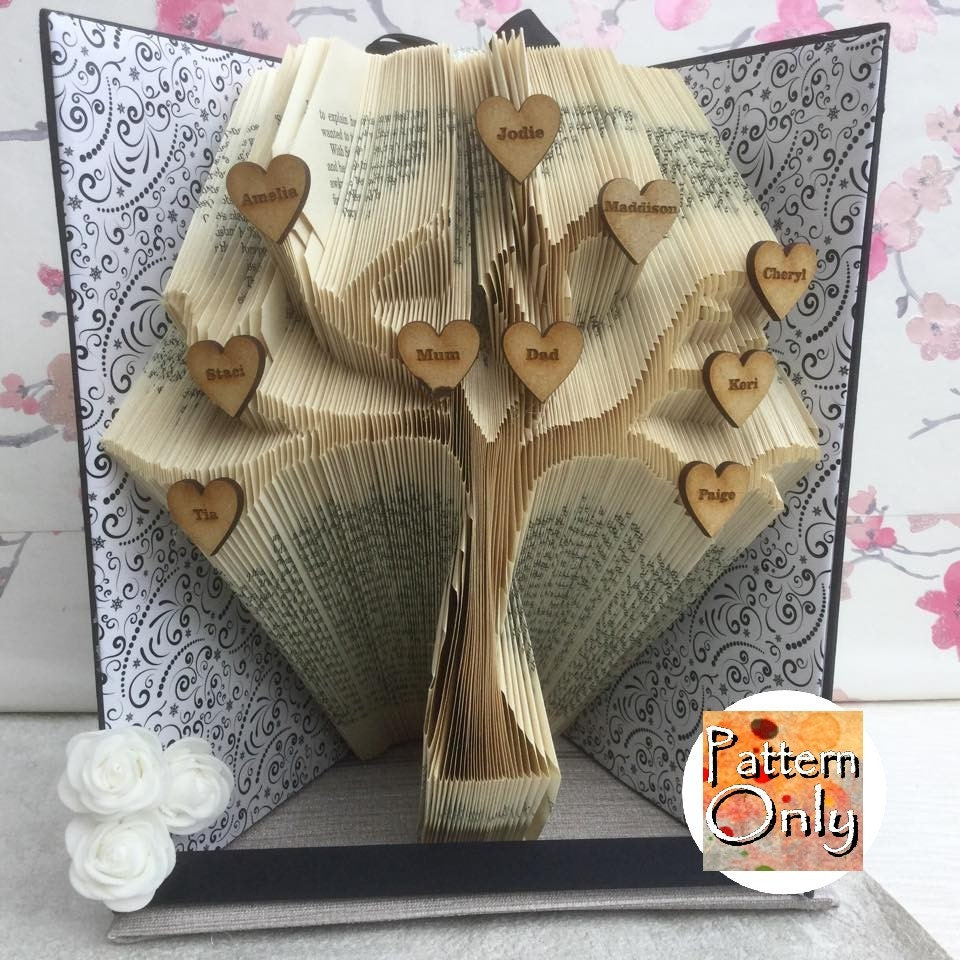 Tree folded book art pattern zoom pronofoot35fo Choice Image