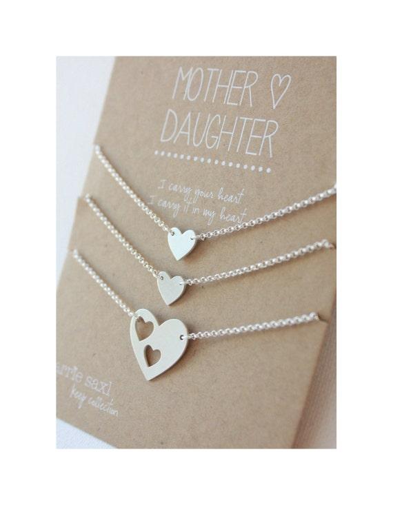 Célèbre Mère de 2 filles Bracelet Set cadeau de Noël cadeau coeurs OV54