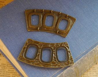 2pcs LARGE  Heavy Duty Antique Bronze Connectors 5 Hole Pendants Necklace 80mm (BC2579)