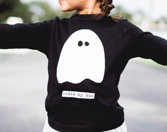 """Swanky Shank Gender Neutral """"You're My Boo"""" Long Sleeved Tee; funny shirt, funny halloween shirt, gender neutral halloween, twin halloween"""