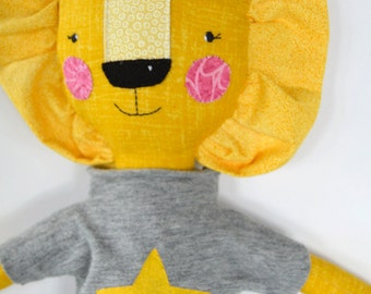 lion rag doll: Rory, rosey rag doll, modern, free personalization