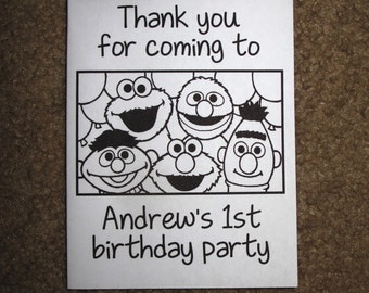PDF FILE ONLY-- Sesame Street Inspired Personalized Coloring Books Birthday Party Favors Elmo 1st