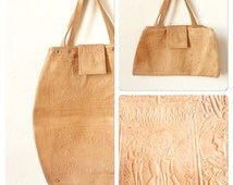 Popular items for 70s leather bag on Etsy