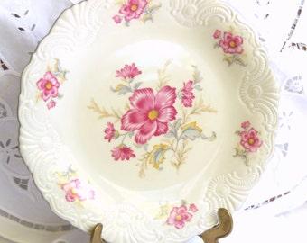 vintage serving platter serving dish porcelain dish floral serving plate shabby chic floral plate