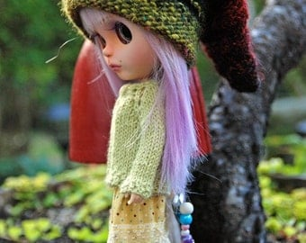 Blythe Doll Knitted Enchanted Elf Hat