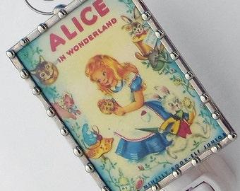 Alice in Wonderland Night Light - Kids Night Light - Cute Stained Glass Decorative Night Lights - Childrens Storybook - Baby Shower Gift N86