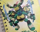 Teenage Mutant Ninja Turtles Green vs Mean Little Golden Book Recycled Journal Notebook