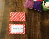 Scripture Memory Verse Card Holder -Bunting