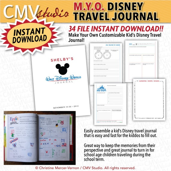 DIY Printable Make Your Own Customizable Kids Disney Travel