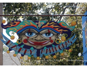 Mardi Gras Jester Sign Photograph
