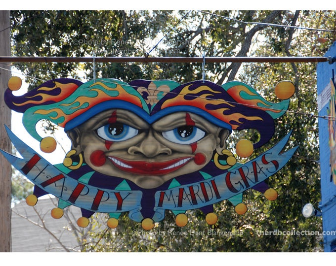 Mardi Gras Jester Sign Photograph