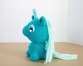 Unicorn Stuffed Animal -Choose Your Colors - Crochet Unicorn
