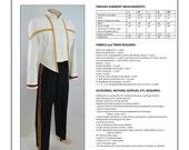 Star Trek DS9/NEM Men's Formal Uniform Sewing Pattern (Jacket AND Trousers)