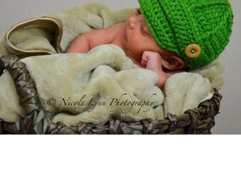 Paper boy baby hat cap, Baby Boy Crochet Hat, Newborn Baby Boy Photo Prop, Newsboy Baby Boy Beanie Hat, Baby Shower Gift, Children Clothes.