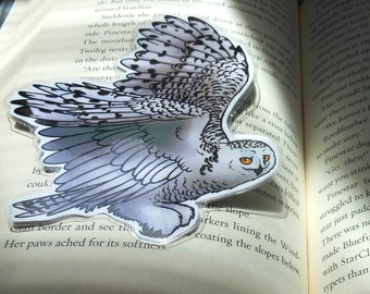 Snowy Owl Page Pet Bookmark