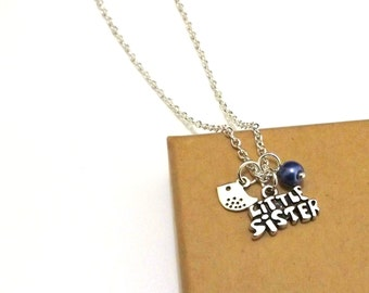 Little Sister Necklace, Little Sister Gift, Sister Necklace, Personalised Gift for Sisters, Sister Jewellery, Sister Gift