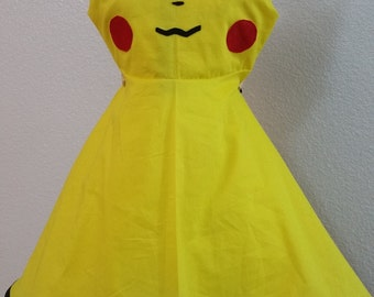Pokemon Pikachu Inspired Girls Dress- Made to Order.