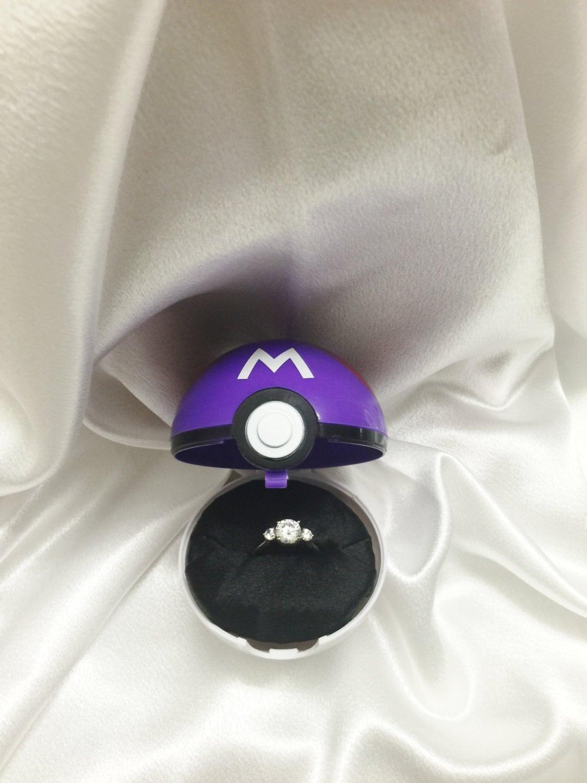pokeball engagement ring box masterball option ring not