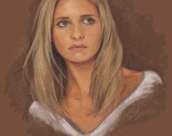 Buffy - Sarah Michelle Gellar - Limited Edition Print