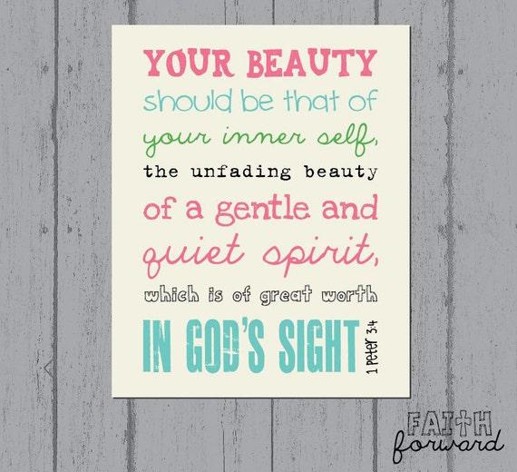 Verse Art, Faith Art, 1 Peter 3:4, Faith Art Print by Faith Forward ...