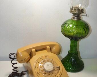 ITT Yellow-Gold Rotary Dial Telephone