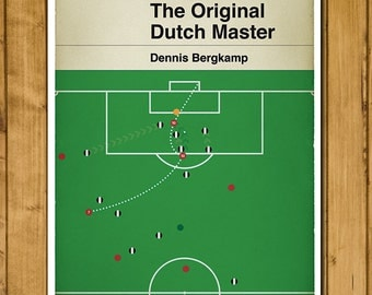 Arsenal FC - Dennis Bergkamp - Goal against Newcastle - Penguin Classic Book Cover Poster (UK and US sizes available)