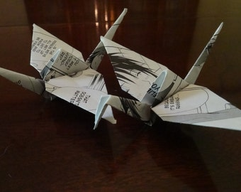 20 Origami Cranes Made From Manga Books