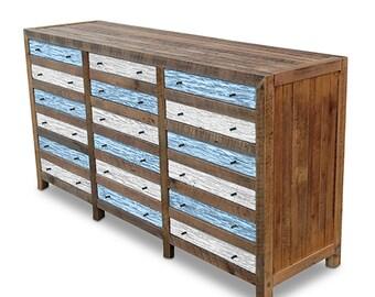 vintage industrial retro recycled wood cabinet rustic sideboard buffet dresser