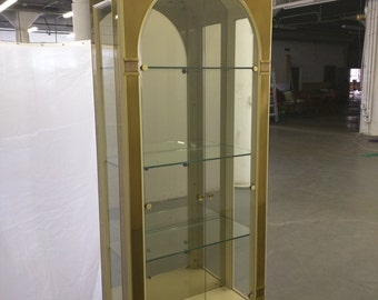 Mastercraft Lacquered and Brass Vitrine Cabinet