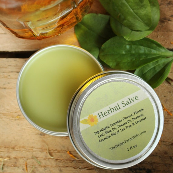 All Purpose Herbal Salve made with Calendula and Plantain - 2 ounce tin