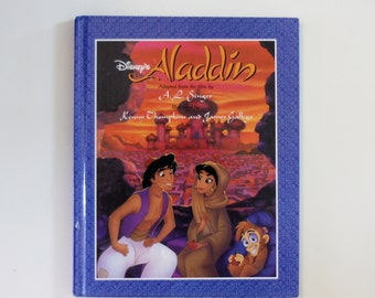 Disney's Aladdin Book Illustrated by Kenny Thompkins and James Gallego - Children's Book, Disney Book