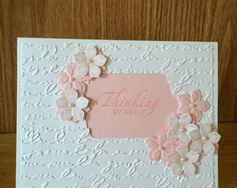 feminine Thinking of You card, note card